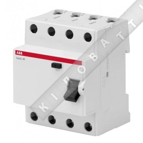 УЗО ABB Basic M 4P 25A 30мA тип AC, BMF41425