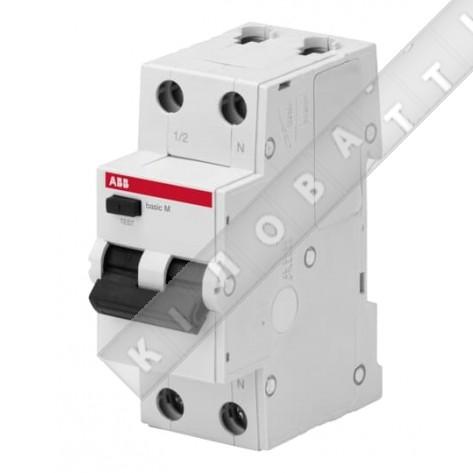 АВДТ ABB Basic M 1P+N 25А C 30мA, BMR415C25 Автоматический выключатель дифференциального тока (автомат)