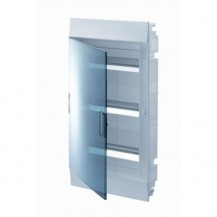 Шкаф электрический IP41 Mistral встроенный 36 модулей 3 ряда, прозрачные двери, с винтовыми N/PE клеммами на 44 подключения