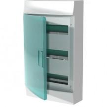 Шкаф электрический IP41 Mistral, накладной, прозрачные двери, 36-модулей (3 ряда по 12)