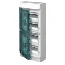 Шкаф электрический IP65 Mistral накладной 48 модуля , прозрачные двери, с винтовыми N/PE клеммами на 52 подключения
