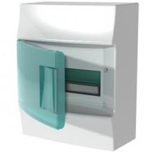 Шкаф электрический IP41 Mistral, накладной, прозрачные двери, 8-модулей