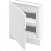 ABB Basic E Бокс в нишу 16М белая непрозрачная дверь