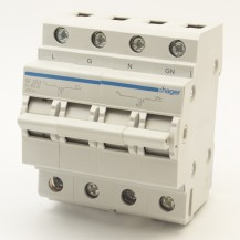 Переключатель ввода резерва HAGER 250В/63A, 1+N, 4м