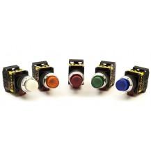 Кнопка IЕК ABLFP-22 желтый d22мм неон/240В 1з+1р