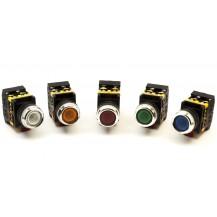 Кнопка IЕК ABLFS-22 зелёный d22мм неон/240В 1з+1р