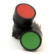 """Кнопка IЕК SВ-7 """"Пуск"""" зеленая 1з d22мм/240В"""