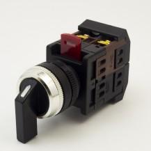 Переключатель IЕК АLС-22 черный с длинной рукояткой на 2 фиксир.положения I-O 1з+1р