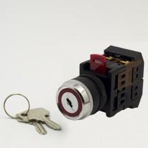 Переключатель IЕК AKS-22 с ключом на 2 фиксир.положения I-O 1з+1р