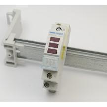 Индикатор тройной  HAGER LED 230В, красный, 1м