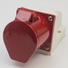 Розетка IЕК 124 стационарная 3Р+РЕ 32А 380В IP44