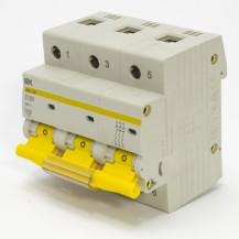 Автоматический выключатель IЕК ВА 47-100 3Р 100А 10 кА  х-ка С