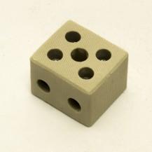 Зажим клеммный фарфоровый 2-полюса 6-10 мм