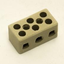 Зажим клеммный фарфоровый 3-полюса 4 мм
