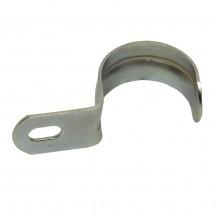 Скоба металлическая однолапковая  d 10-11 мм