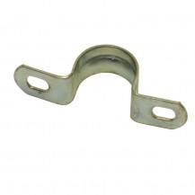 Скоба металлическая двухлапковая  d 19-20 мм