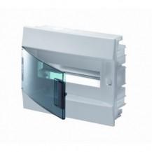 Шкаф электрический IP41 Mistral встроенный 12 модулей, прозрачные двери, с винтовыми N/PE клеммами на 12 подключения